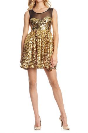 Платье Rare london. Цвет: gold