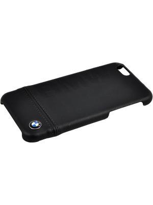 Чехол BMW для iPhone 6/6S Logo Imprint Hard Leather Black. Цвет: черный