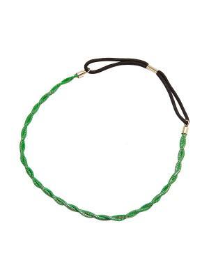 Повязка Kameo-bis. Цвет: зеленый, золотистый, черный