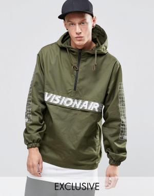 Vision Air Куртка через голову. Цвет: зеленый