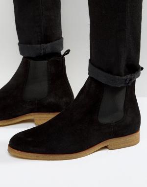Zign Замшевые ботинки челси с каучуковой подошвой. Цвет: черный