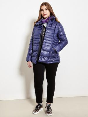 Куртка Fiorella Rubino. Цвет: серый, темно-фиолетовый