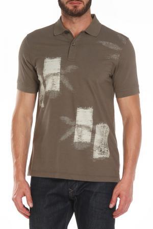 Рубашка-поло Z Zegna. Цвет: хаки