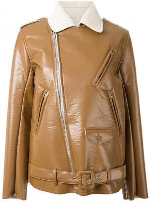 Байкерская куртка Bonding Toga. Цвет: коричневый