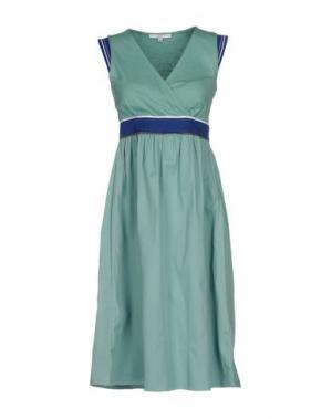 Платье до колена GAZEL. Цвет: небесно-голубой