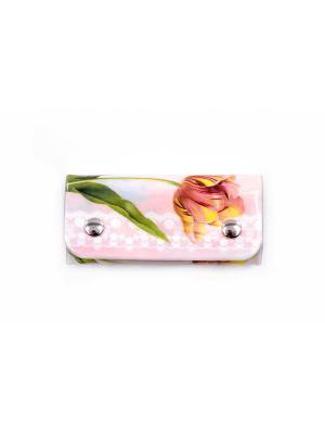 Ключница Тюльпан Magic Home. Цвет: белый, розовый