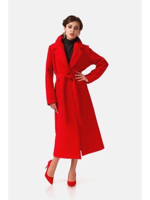 Пальто Leya. Цвет: красный