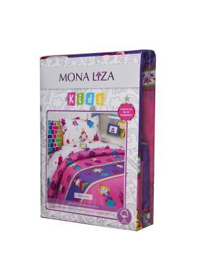 Комплект постельного белья Mona Liza Kids Принцессы. Цвет: розовый, белый, желтый