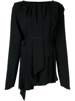 Платье с асимметричным подолом Lemaire. Цвет: чёрный