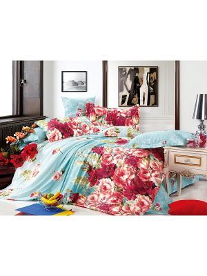 Постельное белье Mechta 2,0 сп. Amore Mio. Цвет: голубой, красный
