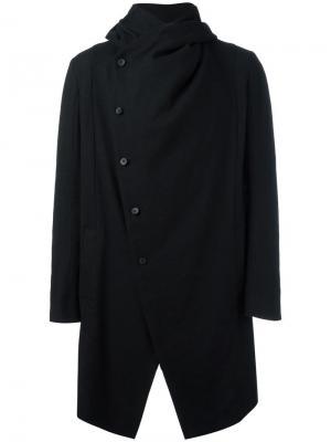 Пальто с капюшоном Masnada. Цвет: чёрный