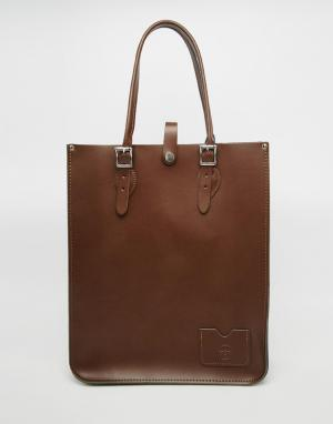 Leather Satchel Company Шоппер-тоут. Цвет: milk chocolate