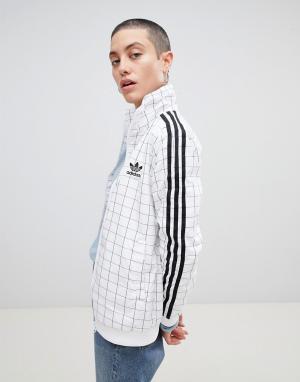 Adidas Originals Спортивная куртка с принтом. Цвет: мульти