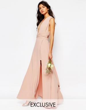 Fame and Partners Платье-трансформер Ainsley. Цвет: розовый