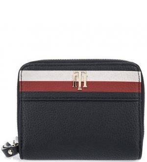 Маленький кошелек с двумя отделами Tommy Hilfiger. Цвет: синий