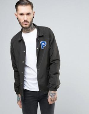 Penfield Черная спортивная куртка из нейлона с логотипом Howard. Цвет: черный