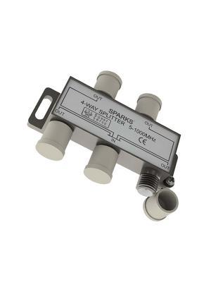 Сплиттер на 4 направления 5-1000 мгц Belsis. Цвет: серебристый