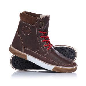 Кеды кроссовки утепленные  Davos Brown Hi-Tec. Цвет: коричневый