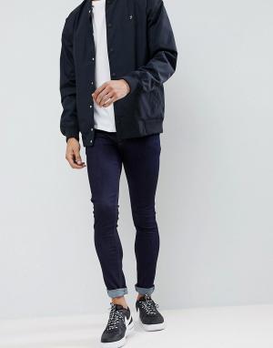 ASOS Супероблегающие джинсы цвета индиго. Цвет: черный