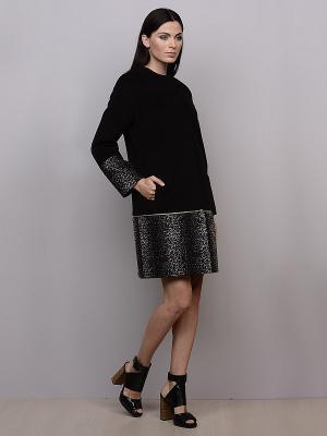 Пальто Pompa. Цвет: черный, серый