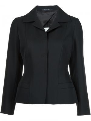 Приталенный пиджак Maison Margiela. Цвет: чёрный