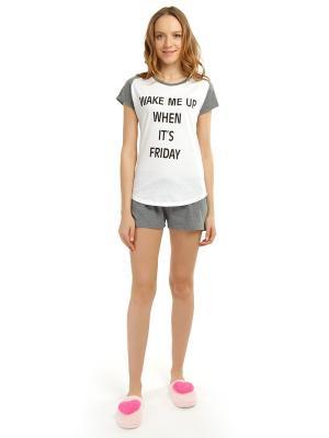 Пижама ТВОЕ. Цвет: темно-серый, белый