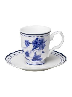 Набор из 2-х чашек для эспрессо Copenhagen MollyMarais. Цвет: темно-синий, белый