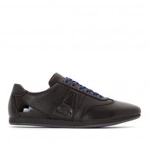 Кеды на контрастной шнуровке PARKA AZZARO. Цвет: черный