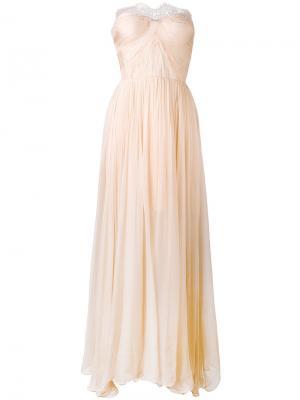 Anna lace-panelled gown Maria Lucia Hohan. Цвет: телесный