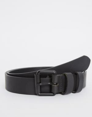 Dark Future Черный кожаный ремень с черной пряжкой. Цвет: черный