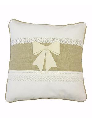 Подушка декоративная Naturel. Цвет: белый, бежевый