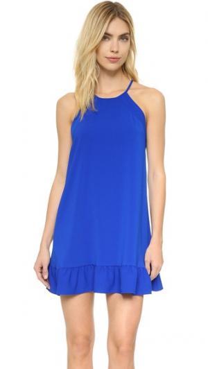 Платье Shalyn Amanda Uprichard. Цвет: голубой