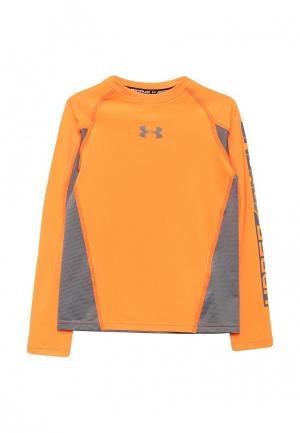 Лонгслив спортивный Under Armour. Цвет: оранжевый
