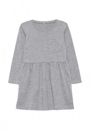 Платье Name It. Цвет: серый