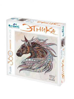 Пазл серии АРТ-Терапия Лошадь, 360 элементов. Origami. Цвет: белый, красный, желтый