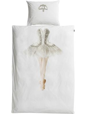 Комплект постельного белья Балерина 150х200см SNURK. Цвет: белый, серый, розовый