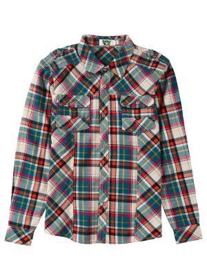 Рубашка Born. Цвет: красный