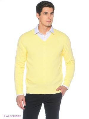 Пуловер Fine Joyce. Цвет: светло-желтый