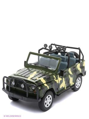 Машинка УАЗ АВТОПАНОРАМА. Цвет: зеленый, желтый