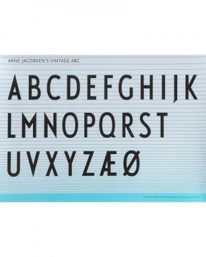 Плакат Design Letters. Цвет: бирюзовый