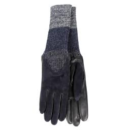Перчатки  CECILIA/AGNSUED/W темно-синий AGNELLE