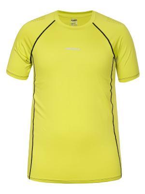 Футболка Icepeak. Цвет: светло-желтый