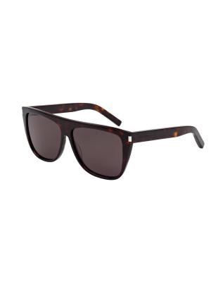 Солнцезащитные очки Saint Laurent. Цвет: коричневый, темно-коричневый
