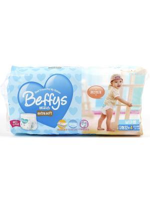 Подгузники-трусики Beffys extra soft для мальчиков размер L (10-14 кг.) 36 шт. Beffy's. Цвет: синий