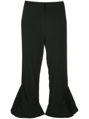 Укороченные брюки с оборками Goen.J. Цвет: чёрный
