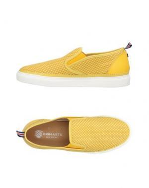 Низкие кеды и кроссовки BRIMARTS. Цвет: желтый