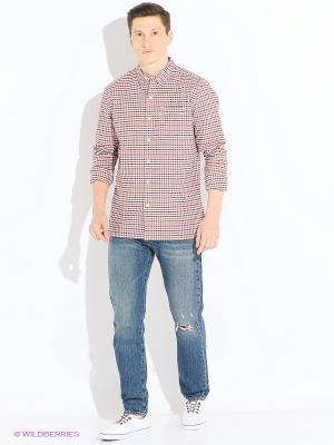 Рубашка Levi's®. Цвет: белый, красный