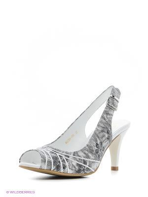 Босоножки Moda Donna. Цвет: серый