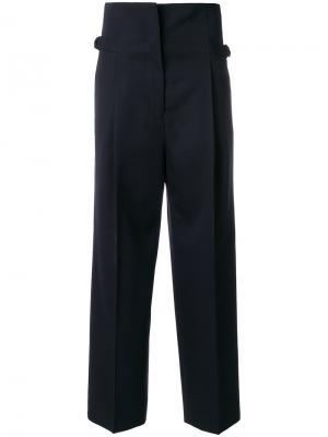 Широкие брюки Jil Sander. Цвет: синий