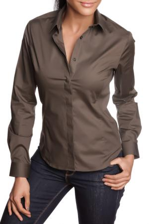 Рубашка GAZOIL. Цвет: khaki